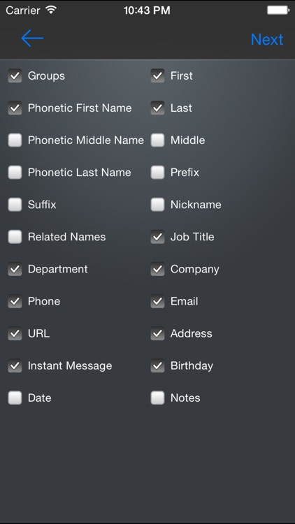 Contacts to Excel screenshot-2