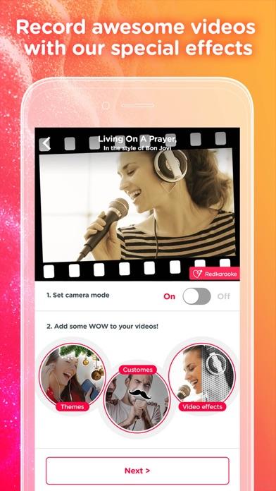 Red Karaoke Sing & Record app image