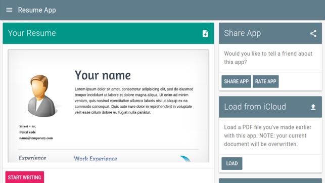 Resume App On The App Store