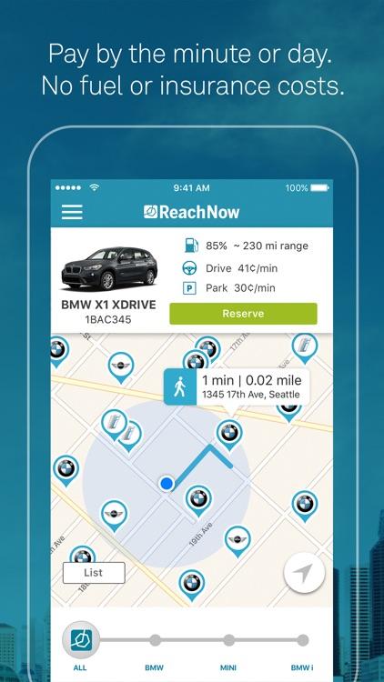 ReachNow CarSharing by BMW, BMW i, MINI