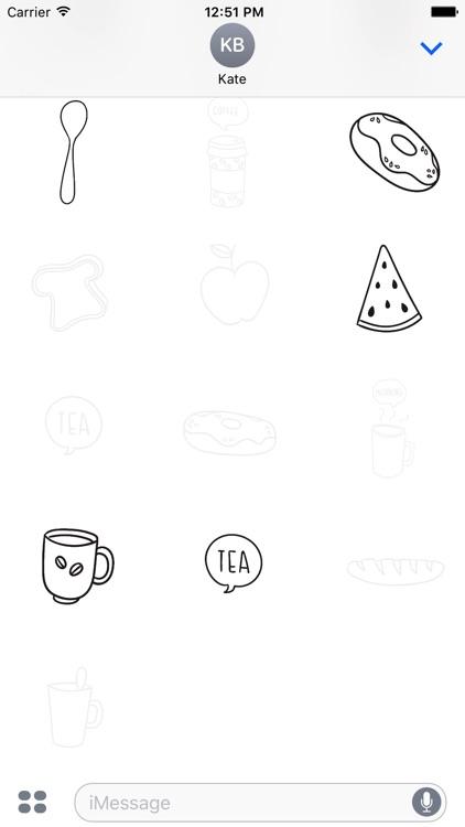 Animated Cute Breakfast Stickers screenshot-4