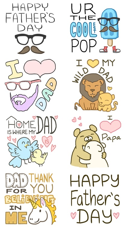 Father's Day Animated Sticker Pack: Coolest Pop screenshot-0