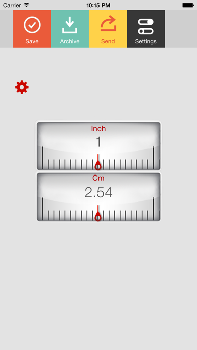 Inch Centimeter Screenshot