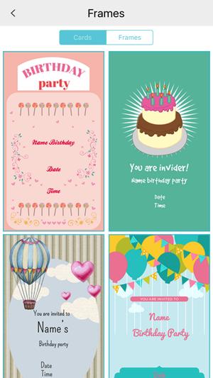Custom birthday invitation card maker on the app store stopboris Gallery