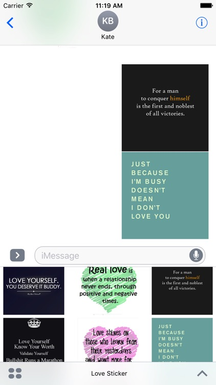 Animated Love Quotes Sticker Pack for iMessage screenshot-4