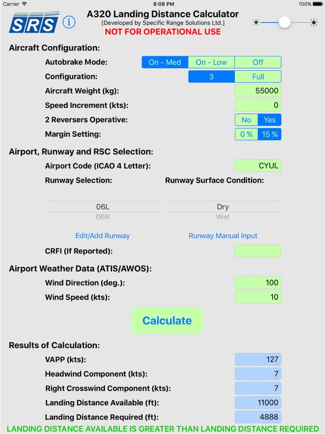 A320 LDC on the App Store