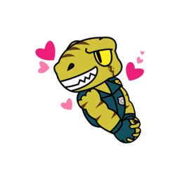 Raptor Cop Animated stickers by Beardownize