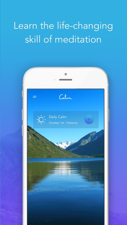 Calm: Meditation to Relax, Focus & Sleep Better app image
