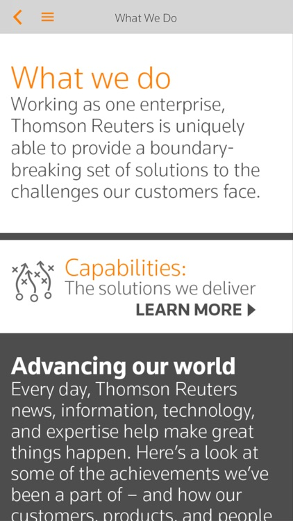 Thomson Reuters Our Story screenshot-2