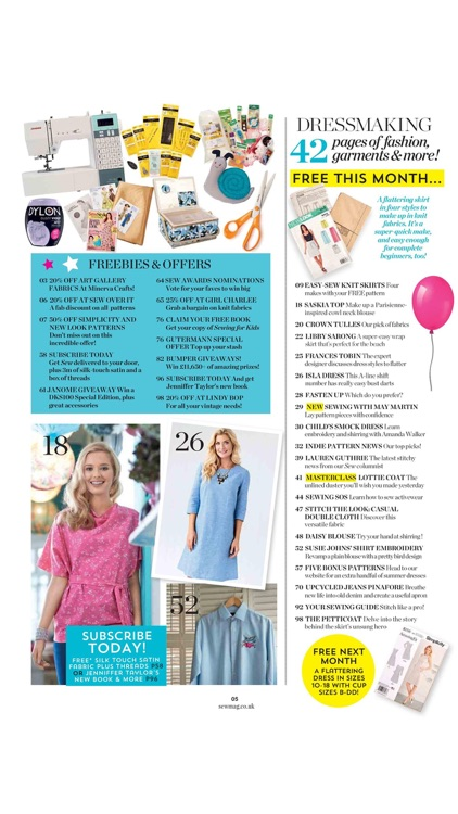 Sew Magazine – your complete guide to sewing, stitching and embroidery