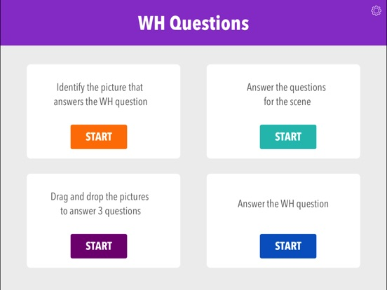 Screenshot #1 for Wh Questions by Teach Speech