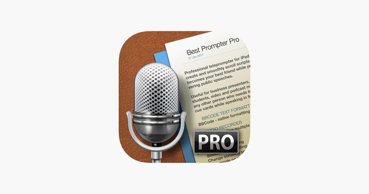best prompter pro teleprompter をapp storeで