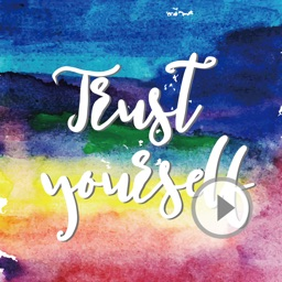 Watercolor Animated Quotes Sticker