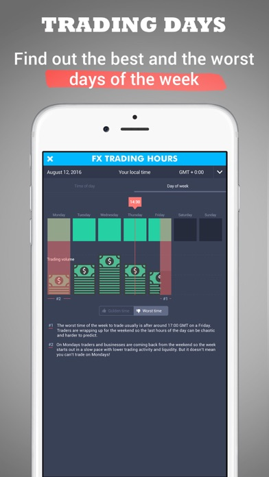 Forex Trading Hours - learn when to trade Screenshot on iOS