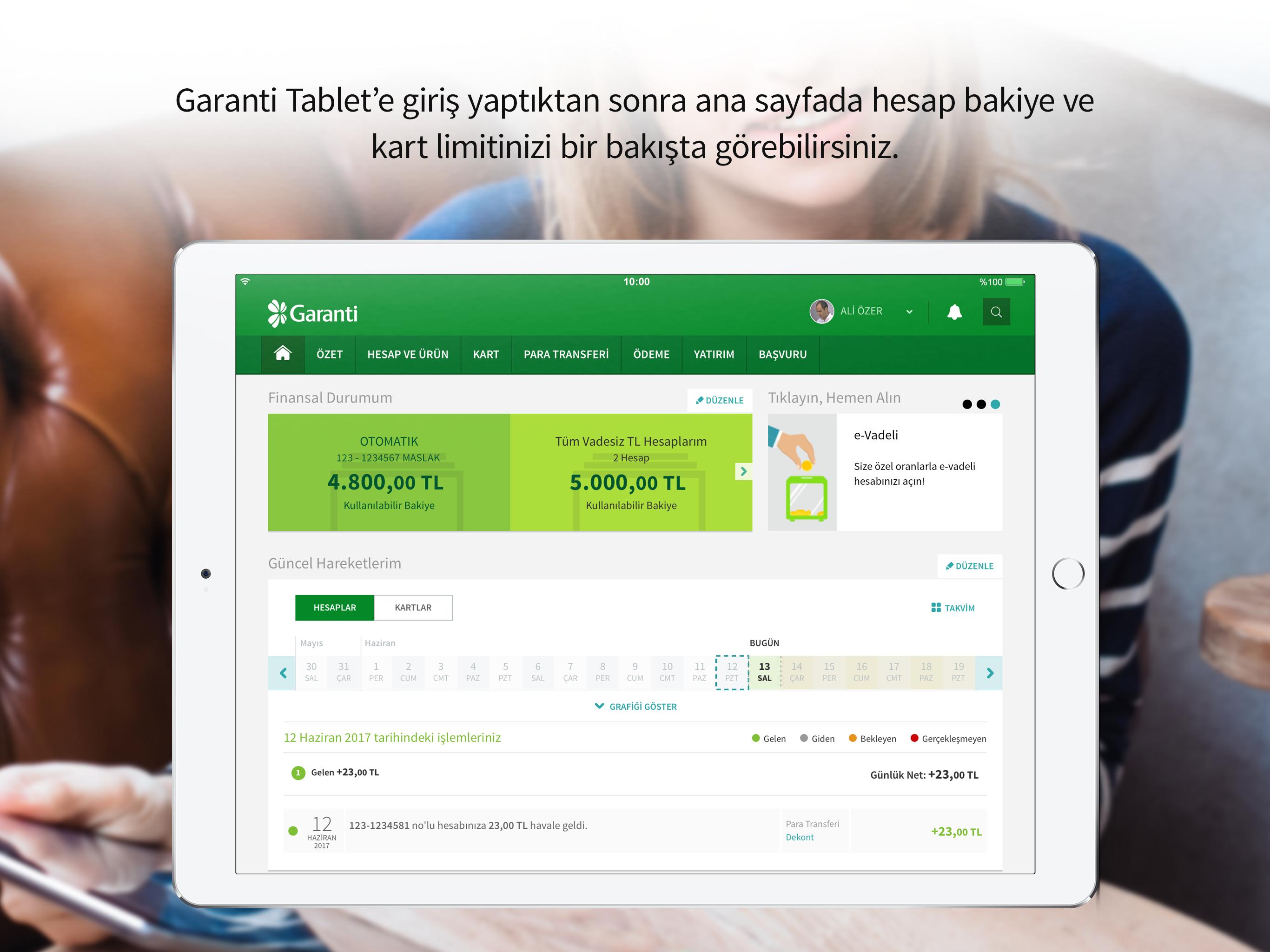 Garanti Tablet Screenshot