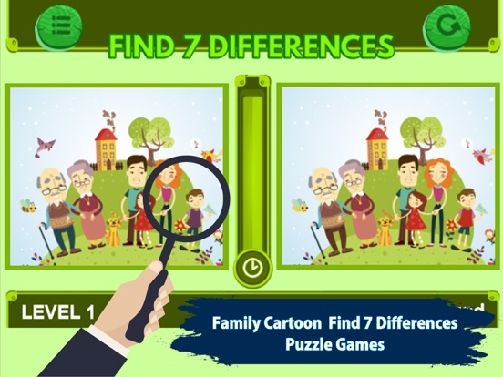 Screenshot 1 For Family Cartoon Find 7 Difference Game