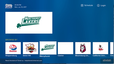 Screenshot #1 for PSAC Network