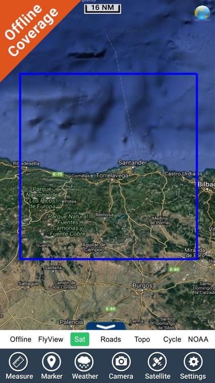 Marine: Cantabria HD - GPS Map Navigator screenshot-4