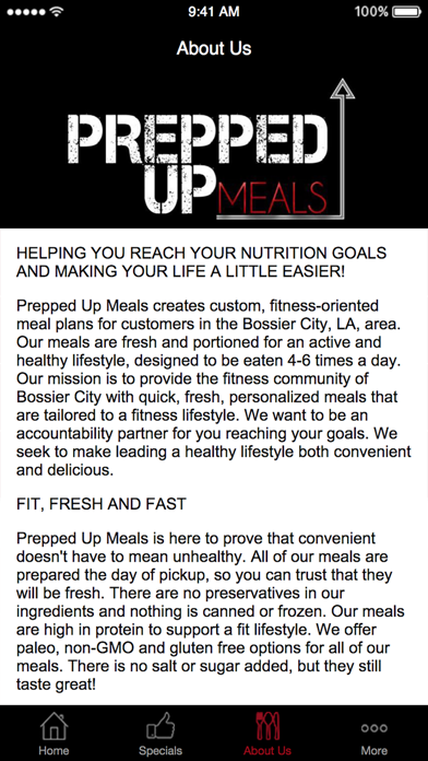 Prepped Up Meals screenshot three