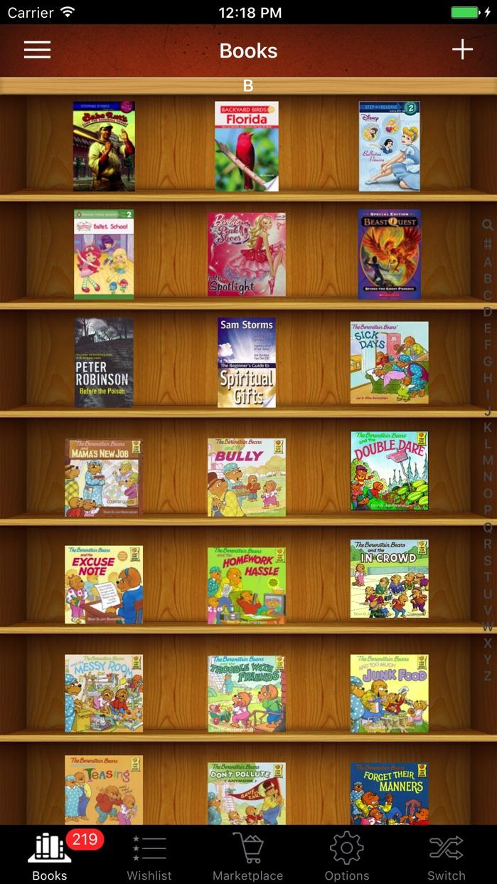Book List Library ISBN Scanner Screenshot