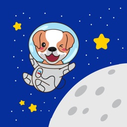 Astronaut Dog Stickers for iMessage