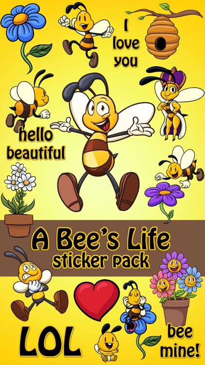 A Bees Life Bee and Flower Sticker Pack