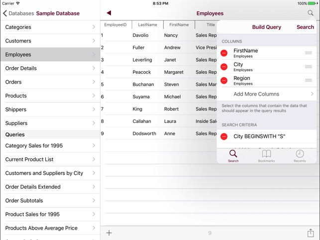 Oracle Mobile Database Client