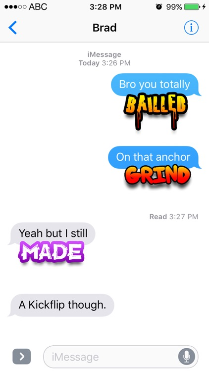 Skater Words - Text Stickers For Sk8rs