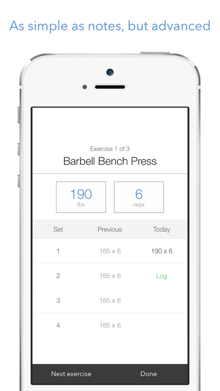 3 minutes to hack lift simple weight lifting log workout tracker
