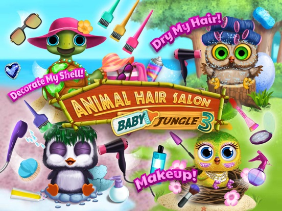Baby Animal Hair Salon 3 - Newborn Hatch & Haircut на iPad