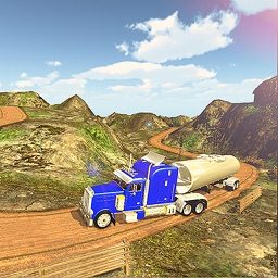 Oil Tanker Transport Hill - Fuel Truck