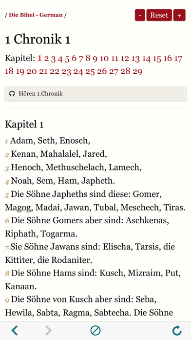 German Holy Bible Audio and Text - Luther Version screenshot four