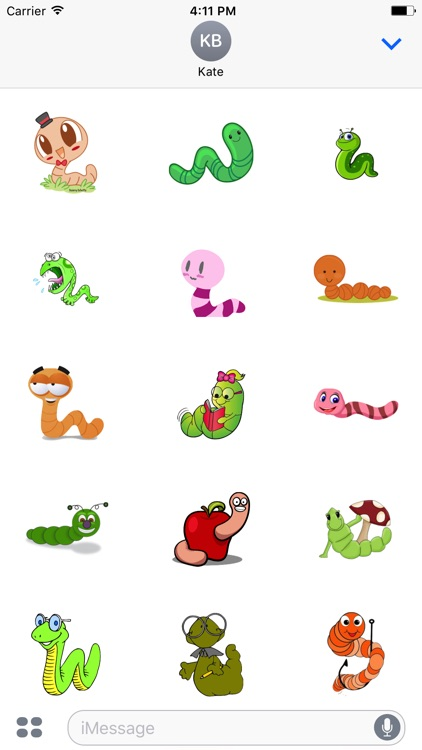 WormCute - Best Worm Emojis And Stickers