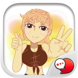 Lady Isan cute cute Stickers for iMessage
