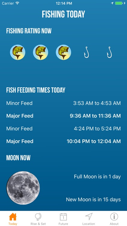 Solunar best fishing times app data review weather for Lunar fishing times