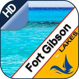 Fort Gibson Lake offline nautical fishing charts