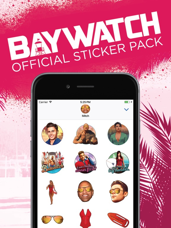 Baywatch Stickers screenshot #1