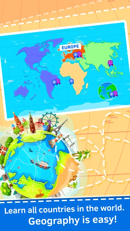 Geography quiz world countries, flags and capitals