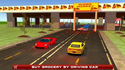 Supermarket Drive Through 3D – Shop in Car Sim screenshot one