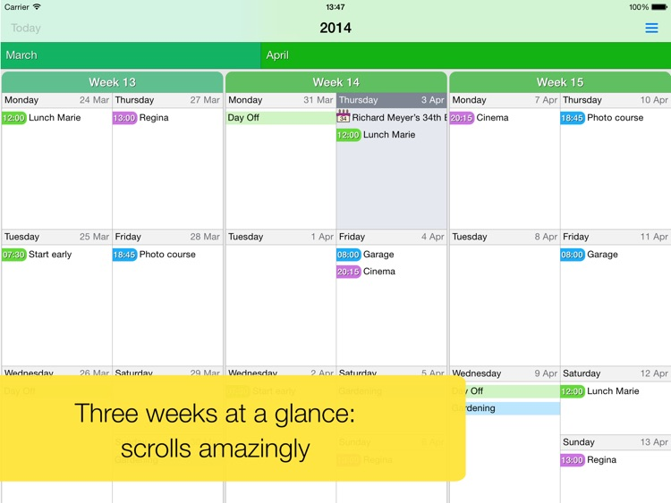 Easy Calendar for iPad