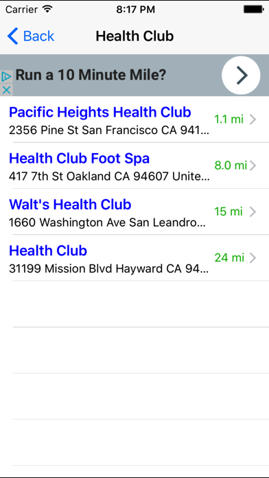 Gym Finder: Find Fitness Workout Gyms Near Me screenshot four