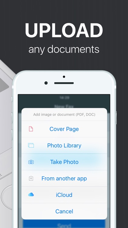 FAX from iPhone: send fax app for iPhone or iPad app image
