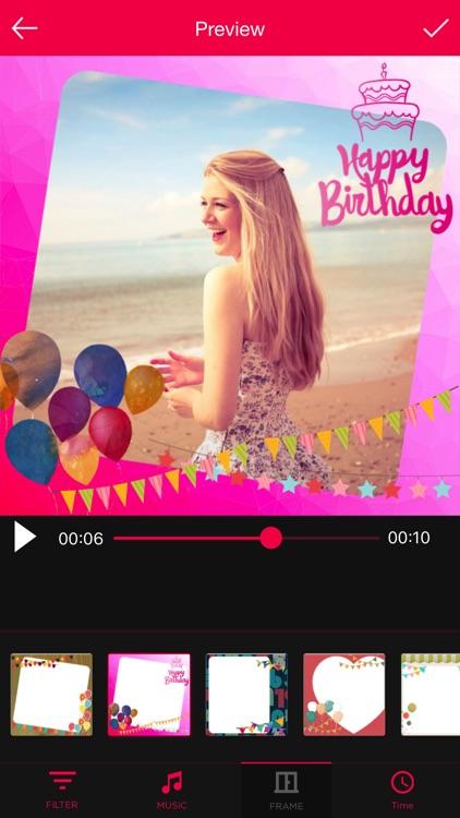 Birthday Movie Maker with Music screenshot-3