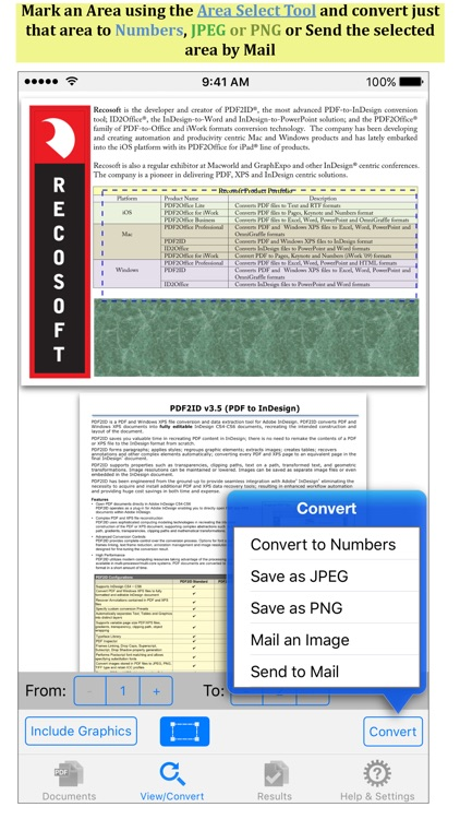 PDF to Numbers by PDF2Office - the PDF Converter