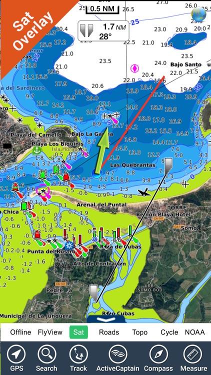 Marine: Cantabria HD - GPS Map Navigator