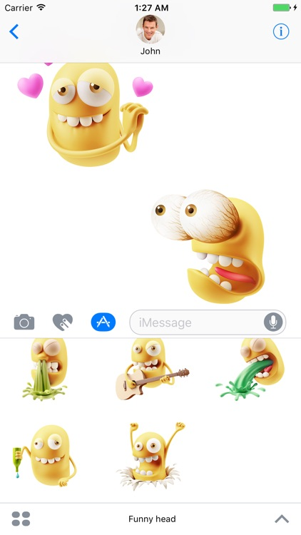 Funny Head - Stickers for iMessage screenshot-3