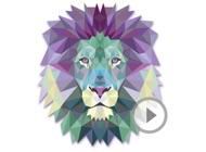 Animated Triangle Animal Stickers