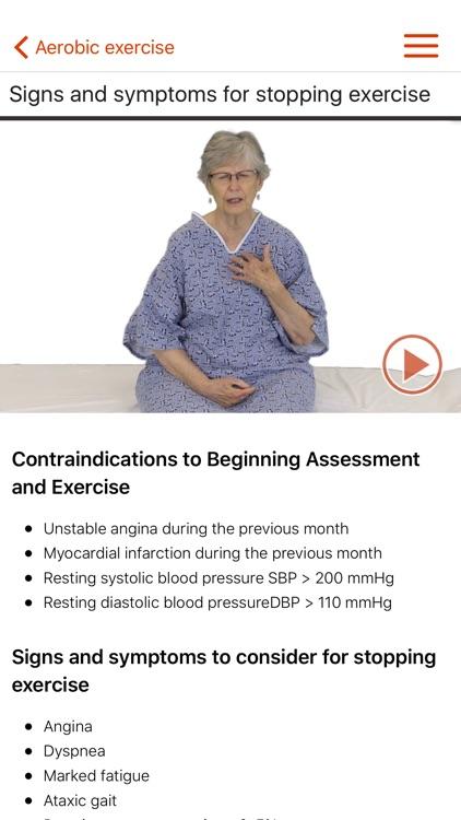 PhysioU: Cardiopulmonary Rehabilitation screenshot-4