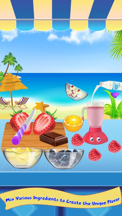Milkshake Cooking Master-Beach Restaurant Party