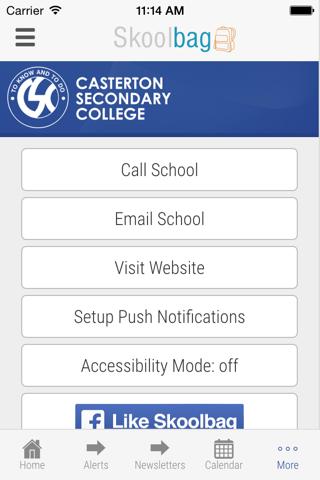 Casterton Secondary College - Skoolbag - náhled